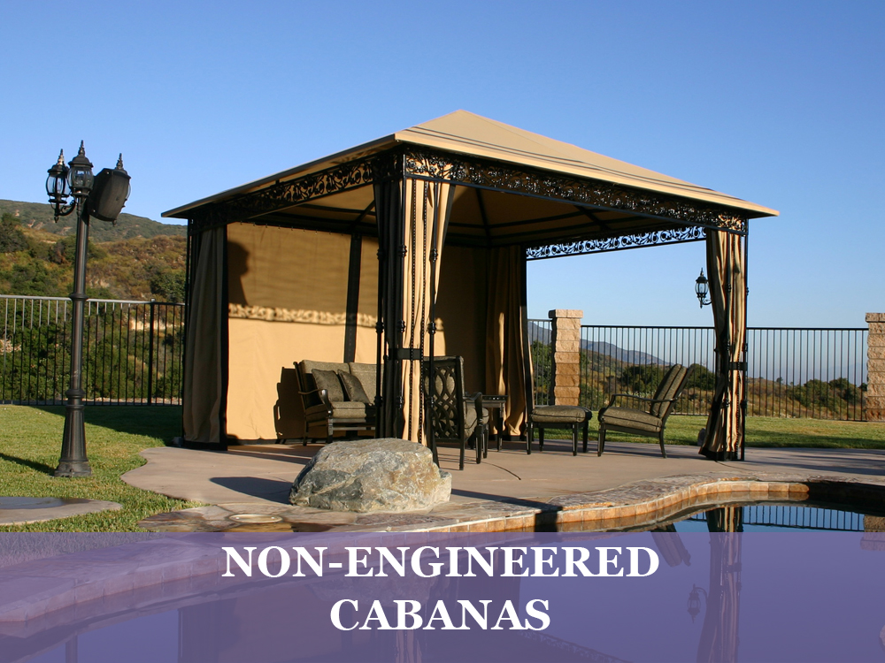 Non-Engineered Cabanas | Resort Cabanas